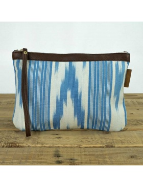 Clutch leather Gorg Blau...