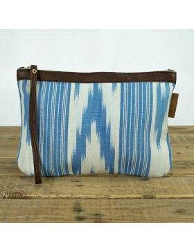 Handtaschen Leder Gorg Blau...