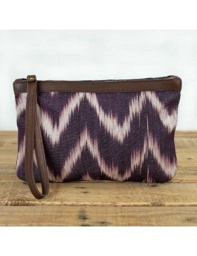 Clutch Leather Talaia Plum