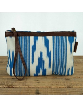 Clutch Leather Gorgblau Sea...