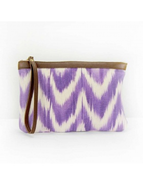 Clutch Leather Talaia Violet