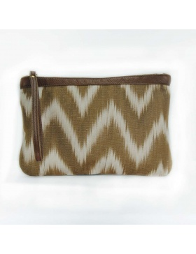 Clutch Leather Talaia Brown