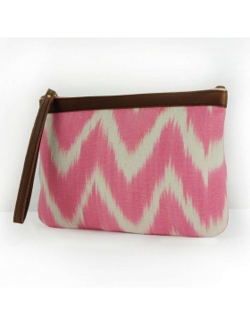 Clutch Leather Talaia Magenta