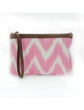 Clutch Leather Talaia Pink