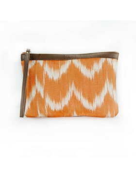 Clutch Leather Talaia Orange