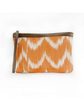 Clutch Leather Talaia Orange