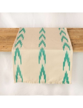 Table runner Alfabia Turquoise