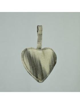 Keychain Heart Taupe