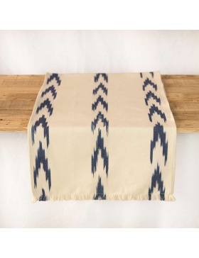 Table runner Alfabia Indigo