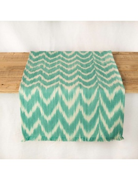 Table runner Talaia Turquoise