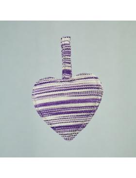 Llavero Corazón Jaspeado Violeta