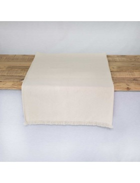 Table runner plain natural