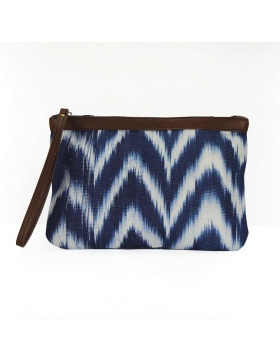 Clutch Leather Talaia Indigo