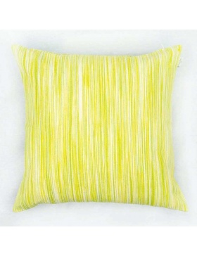 Cushion cover marbled Lime...