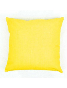 Cushion cover plain Yellow