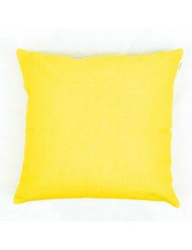 Cushion cover plain Yellow