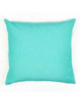 Cushion cover plain Turquoise