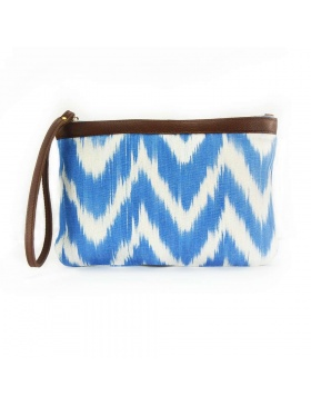 Clutch Leather Talaia Blue Sky