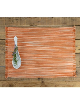 Placemat Marbled Orange
