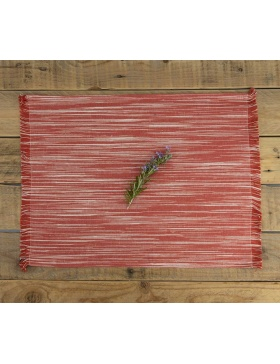 Placemat Marbled Red
