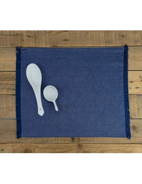 Placemat plain Indigo