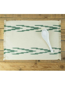Placemat Alfabia Forest Green