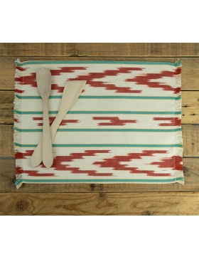 Placemat Ofre Red Green